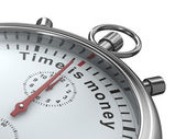 Time is money. Stopwatch on white background. Isolated 3D image — Stock Photo