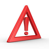 Attention. traffic sign on white background. Isolated 3D image — Stock Photo