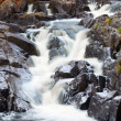 Mountain waterfall. fast stream water. autumn landscape — Stock Photo
