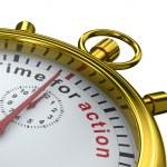 temps d'agir. chronomètre sur fond blanc. imag 3d isolé — Photo