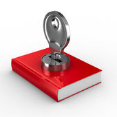 Closed book on white background. Isolated 3D image — Stock Photo