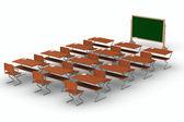 Classroom on white background. Isolated 3D image — Stock Photo
