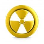 Radiation symbol on white. Isolated 3D image — Stock Photo #5275064