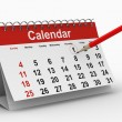 Calendar on white background. Isolated 3D image — Stock Photo