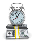Time is money. Isolated image on white — Stock Photo
