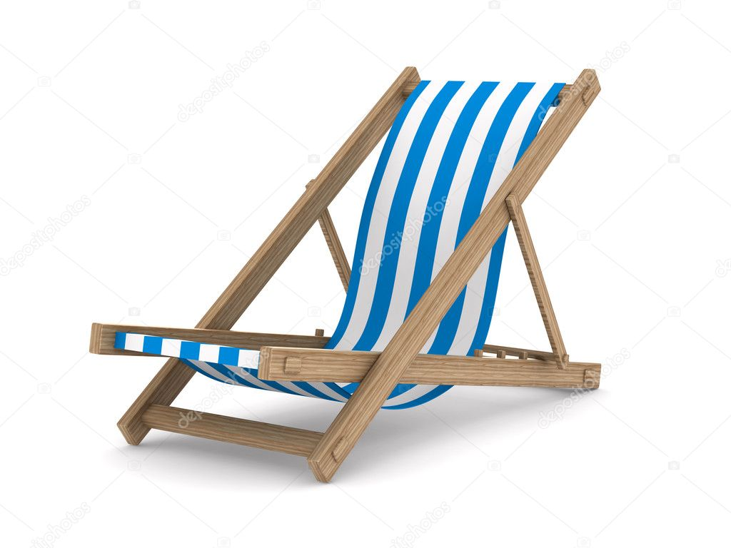 deckchair on white background isolated 3d image stock. Black Bedroom Furniture Sets. Home Design Ideas