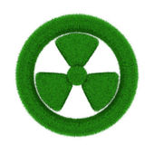Radiation symbol from grass. Isolated 3D image — Stock Photo