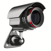 Security camera on white background. Isolated 3D image — Stock Photo