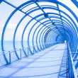 Blue tunnel - Stock Photo