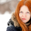 Redhaired young woman - Stock Photo