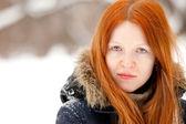 Redhaired genç bir kadın — Stok fotoğraf