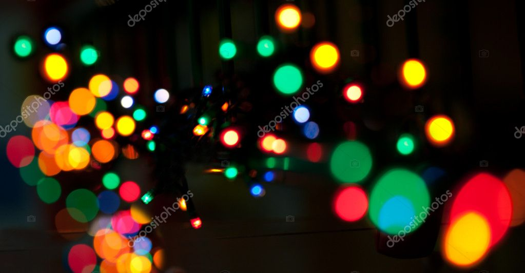 Electricity colorful holiday lights, blur — Stock Photo #4832156