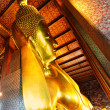 Lying Golden Buddha - Stock Photo