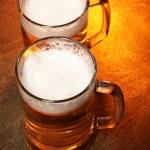 Two beer mugs — Stock Photo