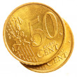 Fifty euro cent coins - Stock Photo