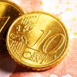 Euro cent coins - Stock Photo