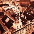 dachy starej Pragi — Zdjęcie stockowe