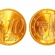 Ten euro cents coins - Foto Stock