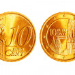 Ten euro cents coins - ストック写真