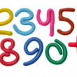 Plasticine numbers - Stock Photo