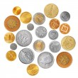 Various coins - Stock Photo