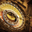 Stock Photo: Old astronomical clock
