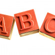 ABC isolated — Stock Photo