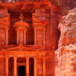 Treasury temple at Petra - Foto Stock