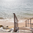 Staircase and sea - Stock Photo