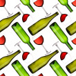 Bottles and glasses seamless pattern — Stock Photo #4553422