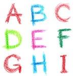 Crayon alphabet, Lettrs A - I — Stock Photo #4553438