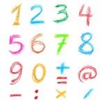 Crayon numbers — Stock Photo