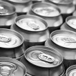 Stock Photo: Drinking cans