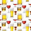 Seamless alcohol beverages - Stock Photo