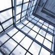 Large window of industrial building - Stock Photo