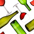 Bottles and glasses seamless pattern — Stock Photo