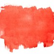 Red watercolor brush strokes — Stock Photo