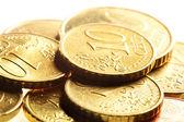 Euro cent coins — Stock Photo