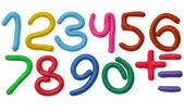 Plasticine numbers — Stock Photo