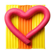 Plasticine heart — Stock Photo