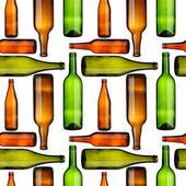 Bottles seamless — Stock Photo