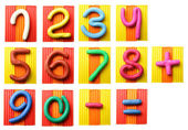 Plasticine numbers — Stock Photo