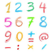 Crayon numbers — Stock Photo