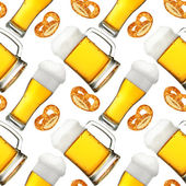 Beer seamless pattern — Stock Photo