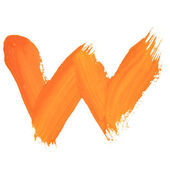 Letter W — Stock Photo