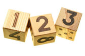 Wooden blocks with digits — Stock Photo