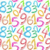 Pastel numery bez szwu — Zdjęcie stockowe