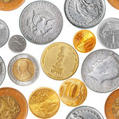 Coins seamless pattern — Stock Photo