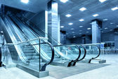 Hall with escalator — Stockfoto