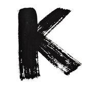 Czarny atrament litery — Zdjęcie stockowe